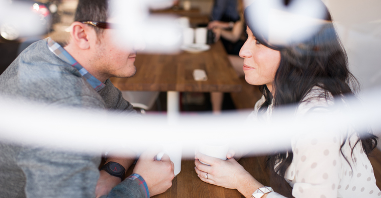 Cody & Jessica // A coffee shop engagement session // Click here to see more.