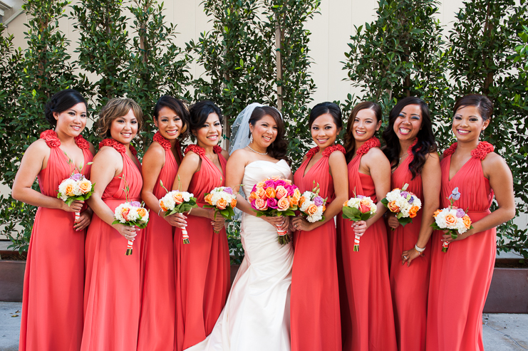 LA wedding photographers california wedding photographers modern wedding photographers patrick and somaly limelife photography coral wedding colors coral bridesmaid dresses bright wedding colors_015