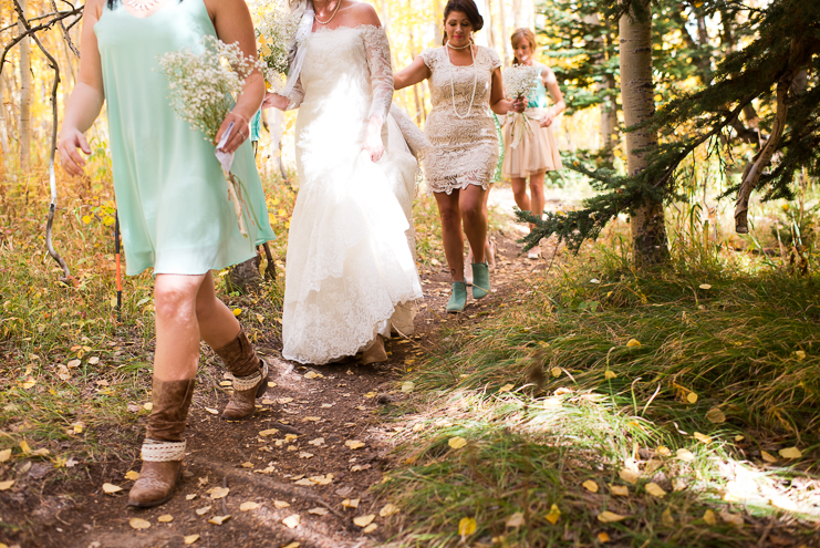 56 bridesmaids in the woods crested butte limelife photography 056