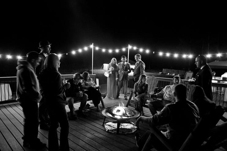 Limelife Photography campfire mountain wedding cabin