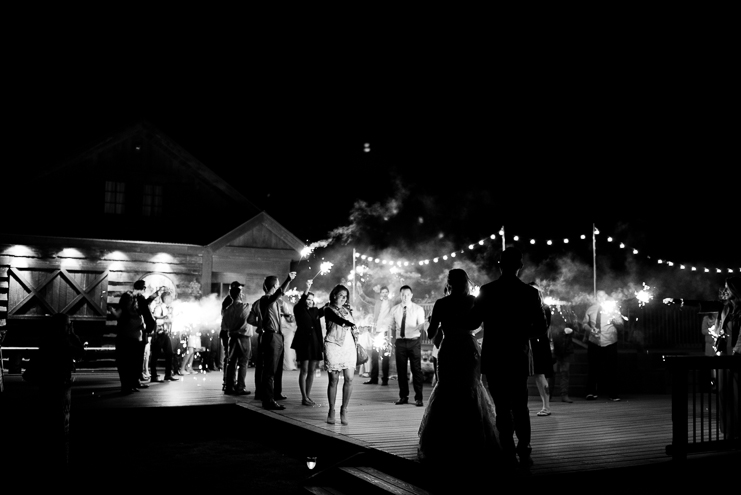 Limelife Photography sparkler exit crested butte wedding